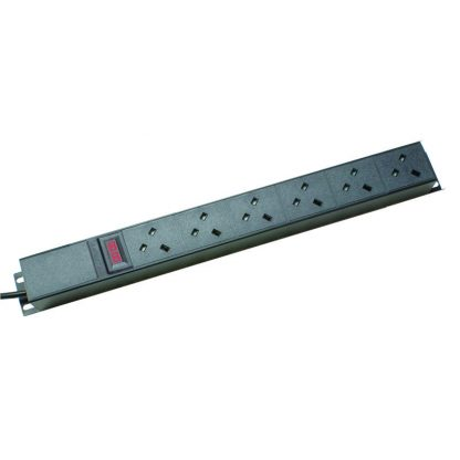 6 Way Ammeter Vertical Angled Left PDU