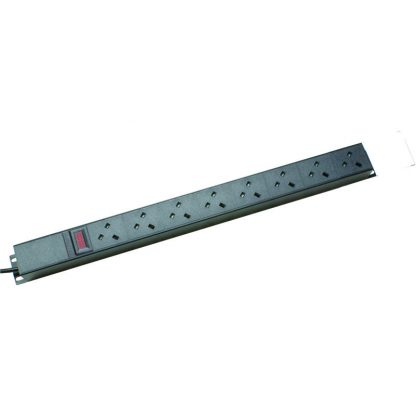 8 Way Ammeter Vertical Angled Left PDU