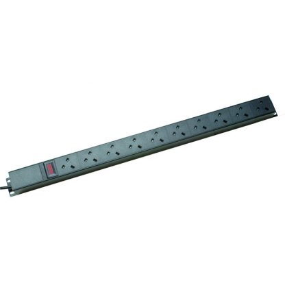 10 Way Ammeter Vertical Angled Left PDU