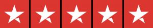 Trustpilot Blue 5 Stars - Red